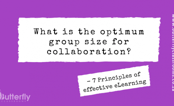What is the optimum group size for collaboration?