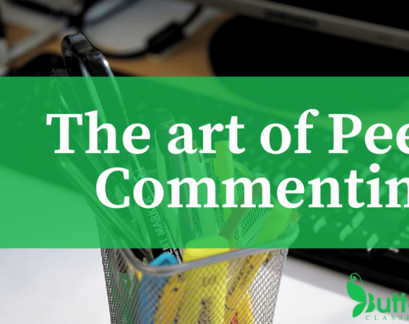 The Art of Peer Commenting