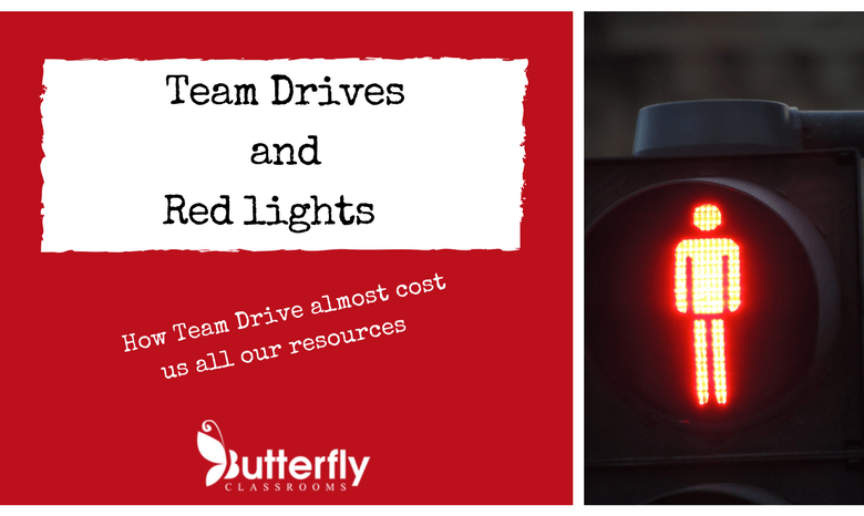 Team Drives and Red Lights