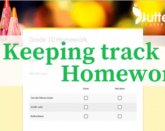 Keeping track of homework with Google Forms